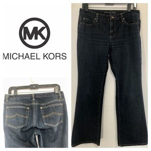 Michael Kors Dark Wash Bootcut Jeans